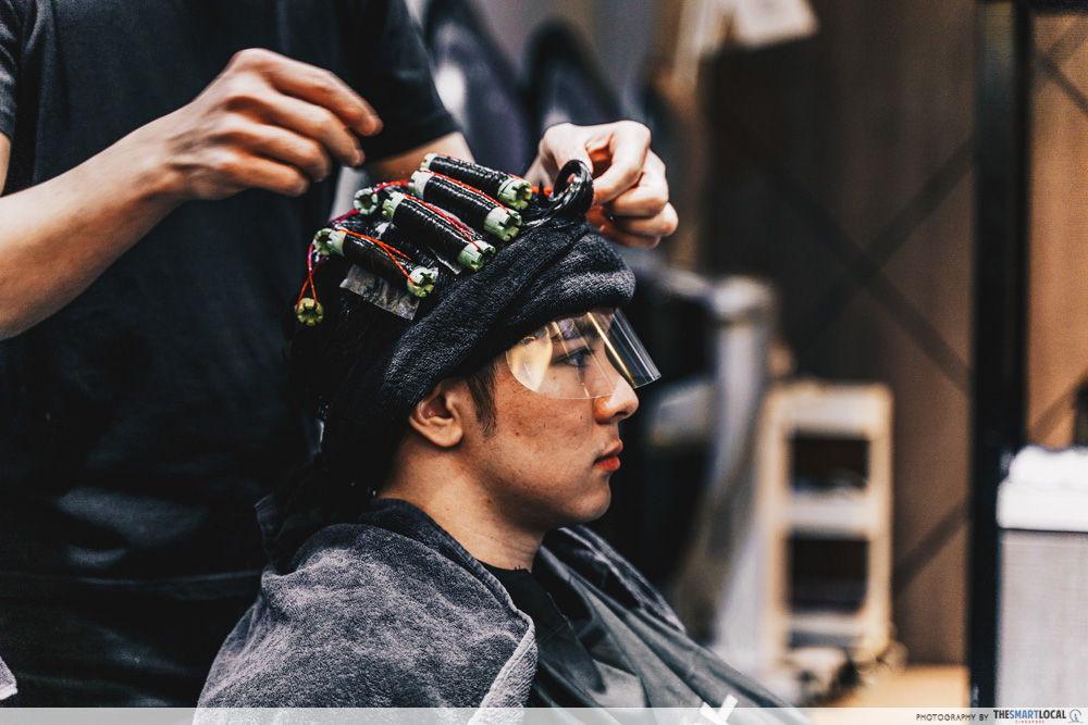 korean men hair perm singapore salon