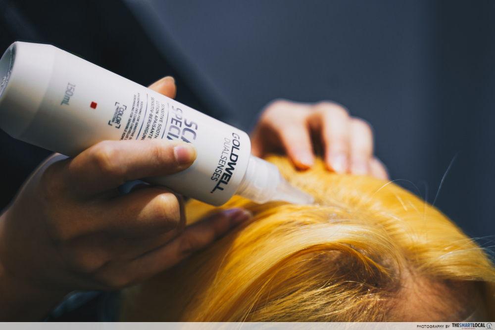 bleaching hair salon singapore