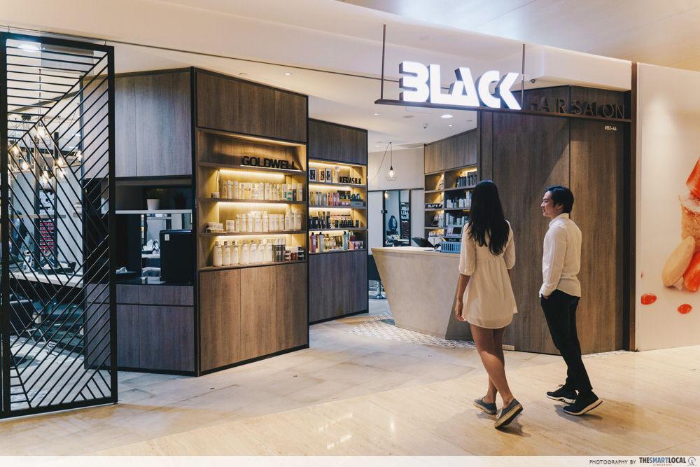 black hair salon singapore