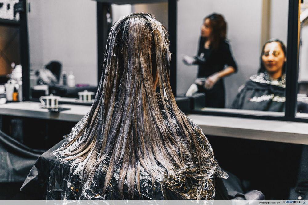 bleaching black hair salon