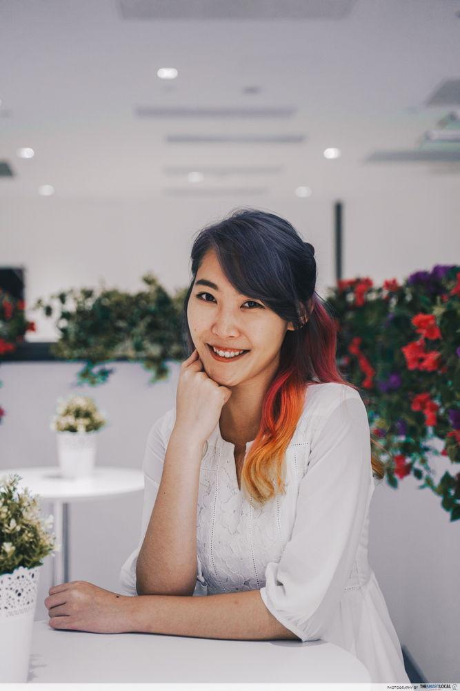 rainbow hair singapore dye