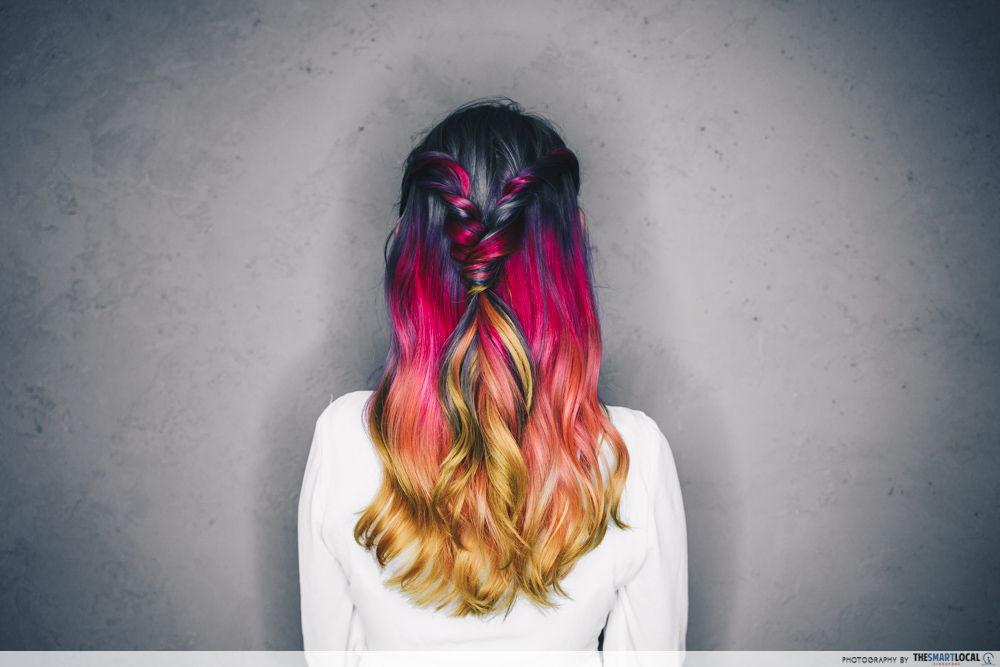 rainbow hair dye singapore