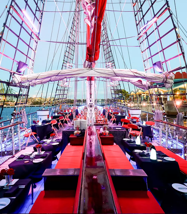 themed proposal setup idea planning service engagement tallship dinner cruise