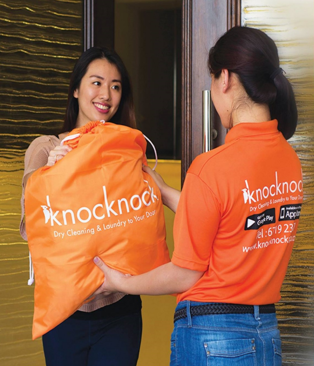 laundry services free home delivery pick up knock knock