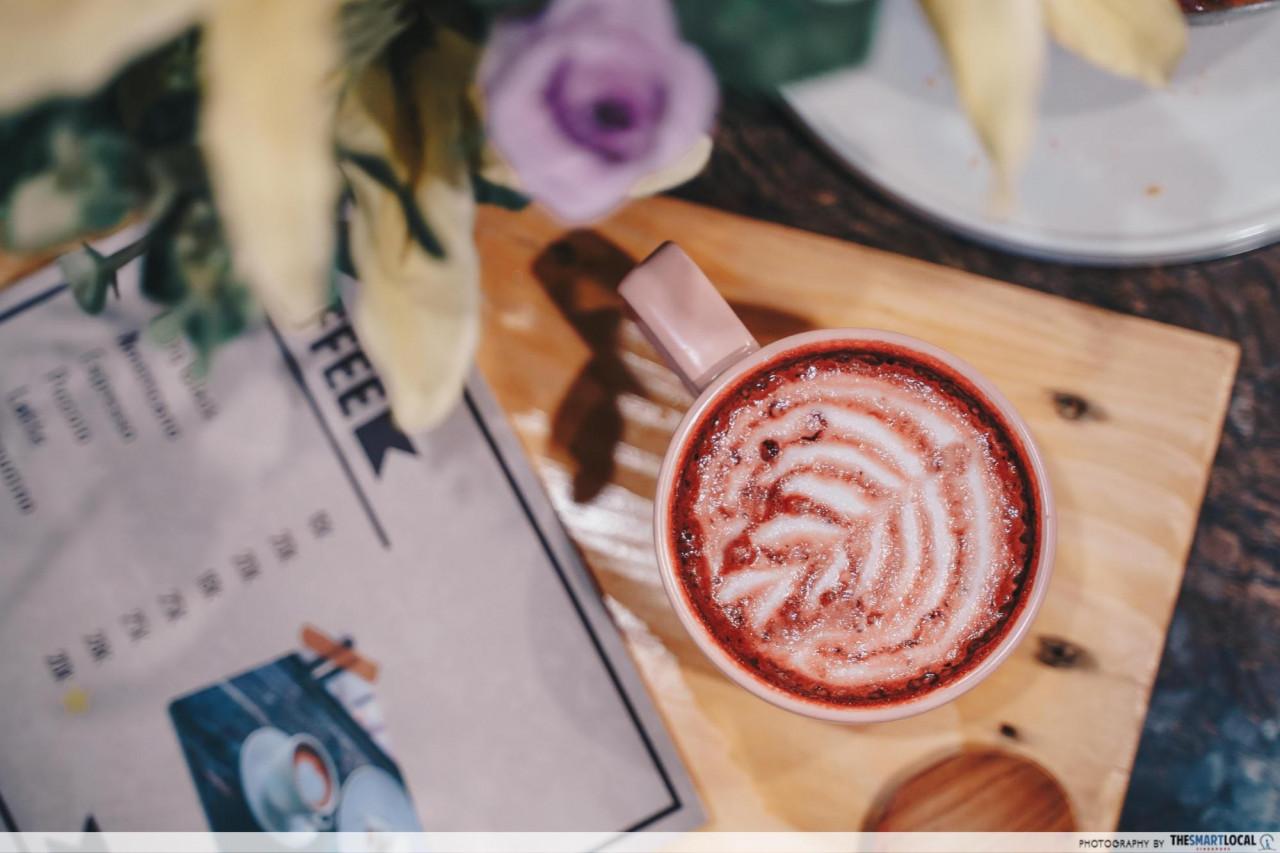 Red Velvet Coffee Latte at Sense