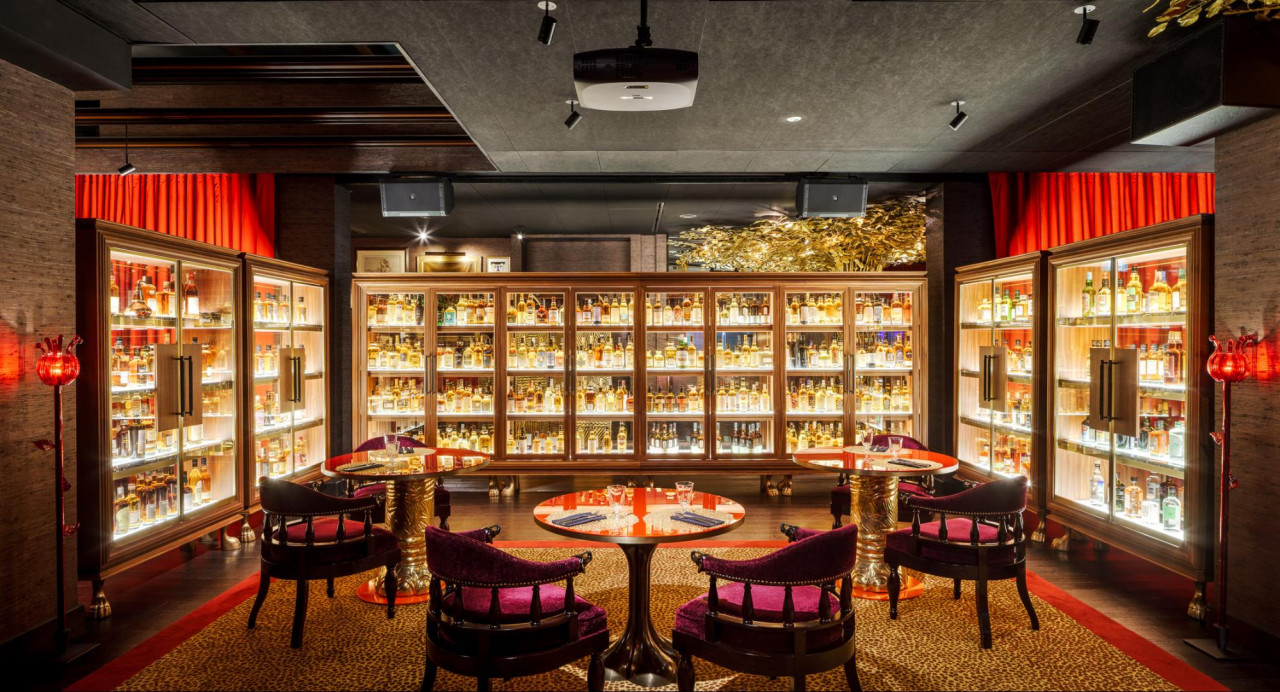 The Whiskey Library at Hotel Vagabond