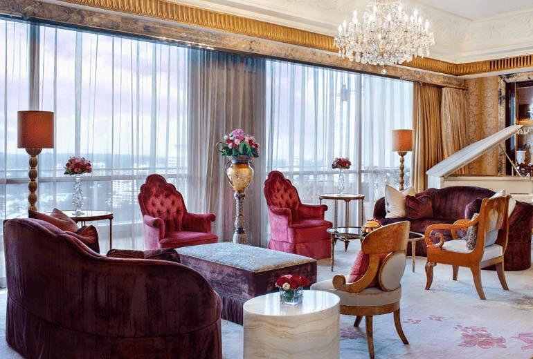 st regis presidential suite lounge