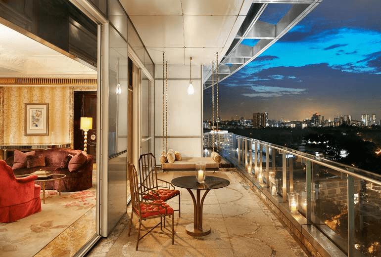 st regis presidential suite balcony
