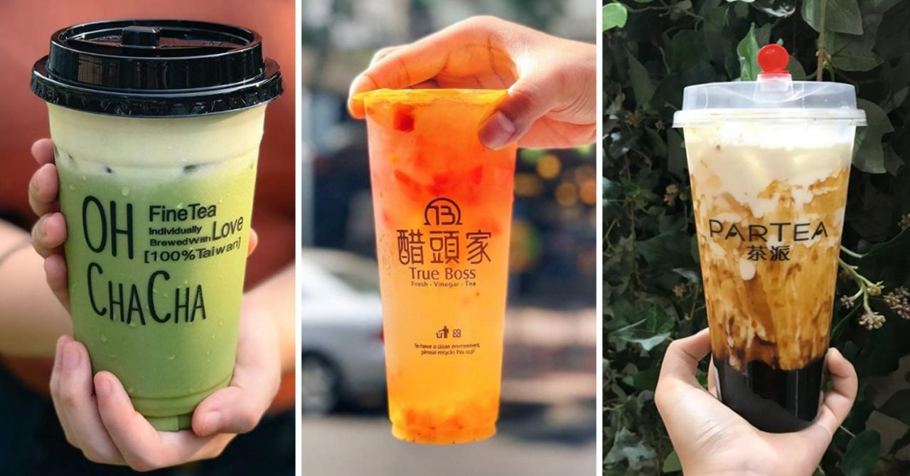 bubble tea collage