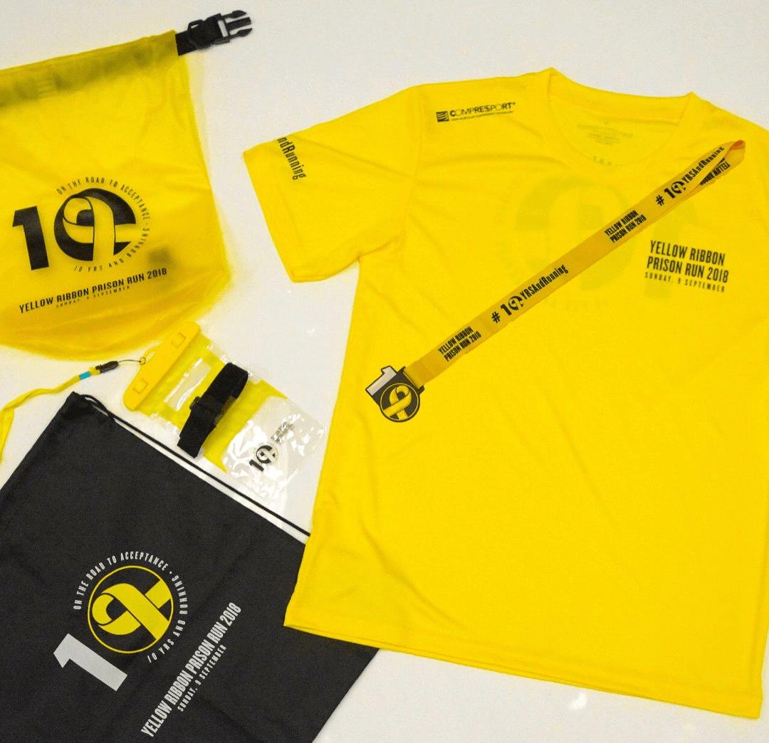yellow ribbon prison run apparel