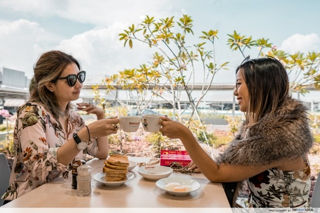 Crazy Rich Asians - breakfast at Changi Airport's secret staff canteen