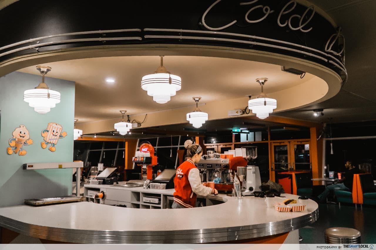 skyline cafe counter