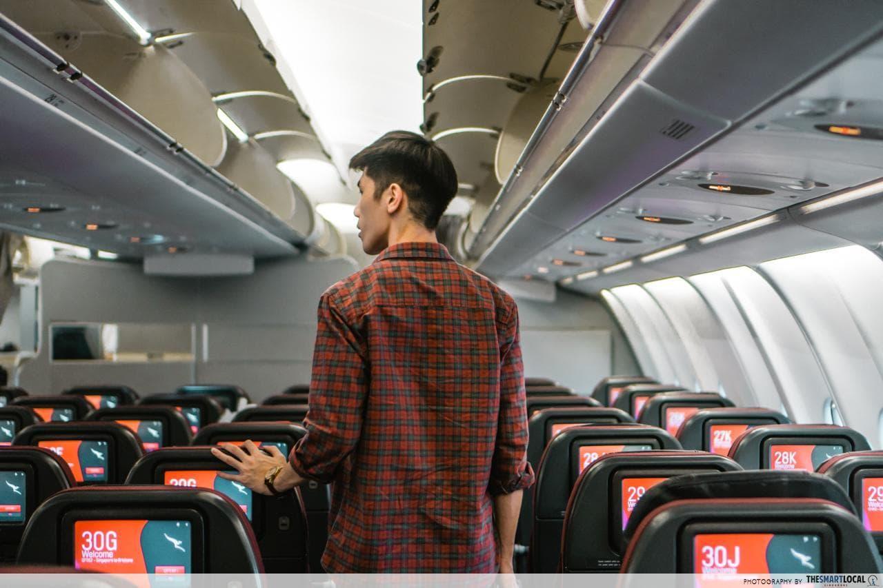qantas cabin seats