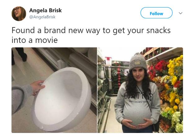 dabao food into cinema meme
