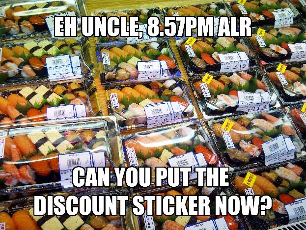 discounted sushi