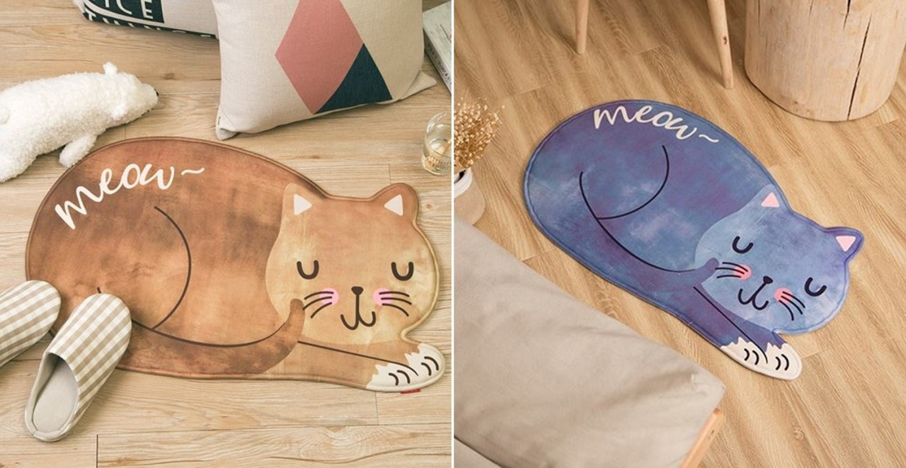 Cat shaped rug