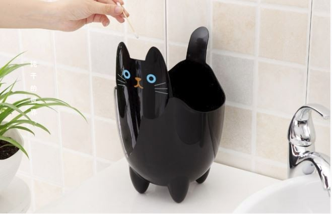 cat trash bin
