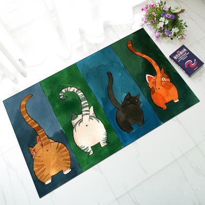 Cat butt rug