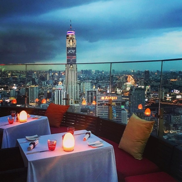Rooftop bars in Bangkok - Red Sky