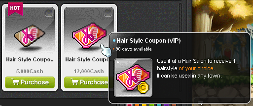 Maple Story - hair style coupon beauty