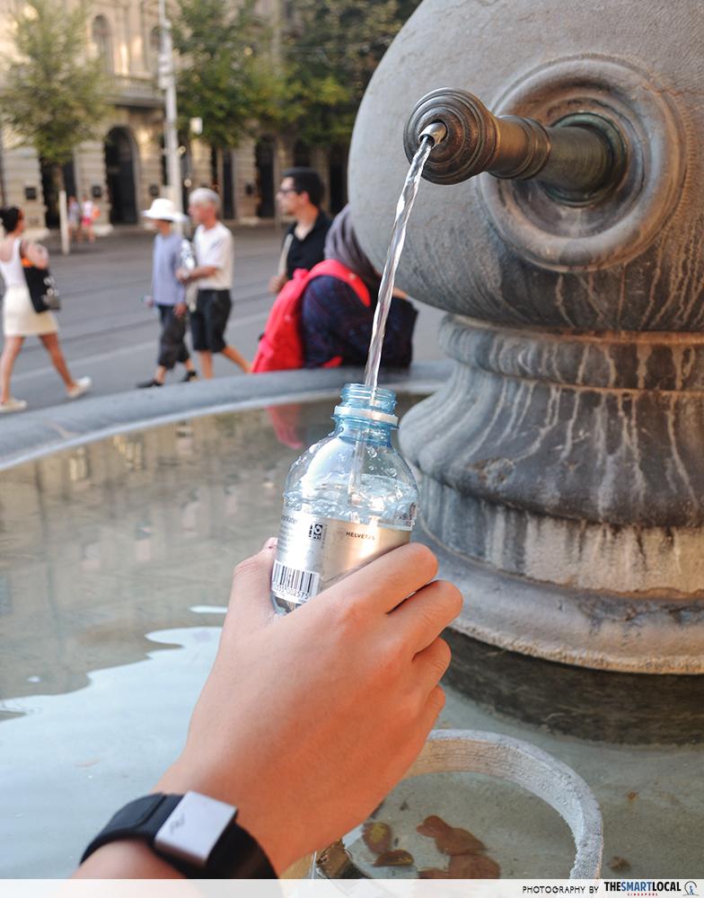 free water fountains zurich