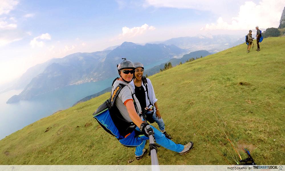 paragliding over lake lucerne skyglide paragliding