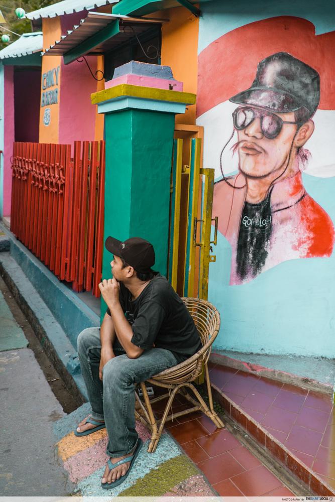 rainbow village street art