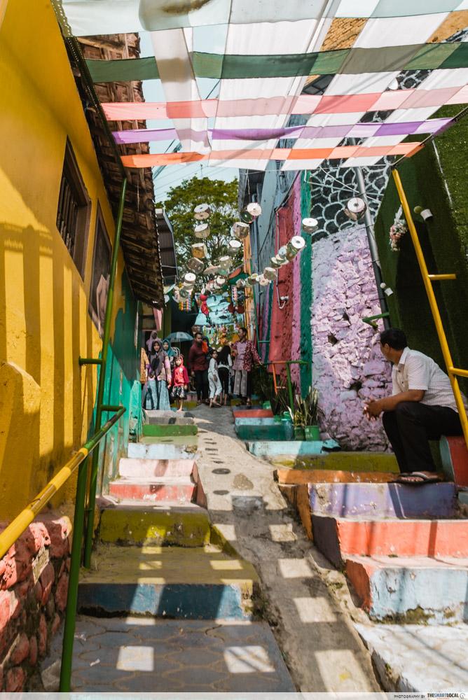 rainbow village steps