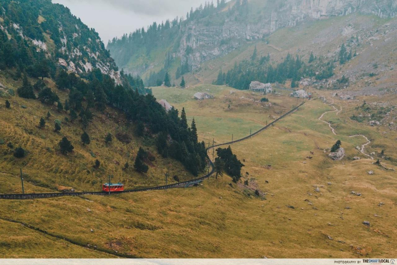 Mount Pilatus Cogwheel Train view