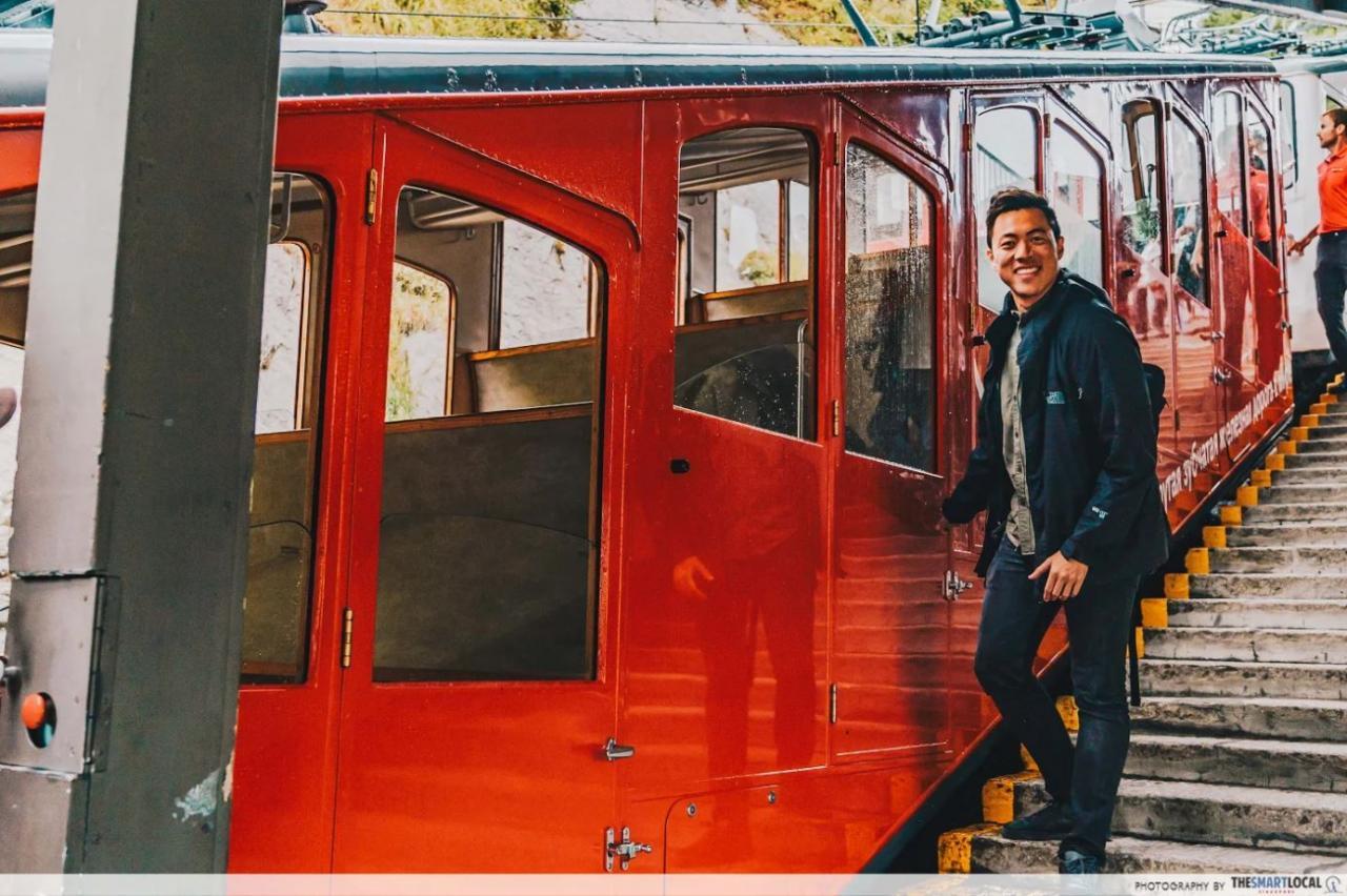 Pilatusbahn Cogwheel Train in Switzerland