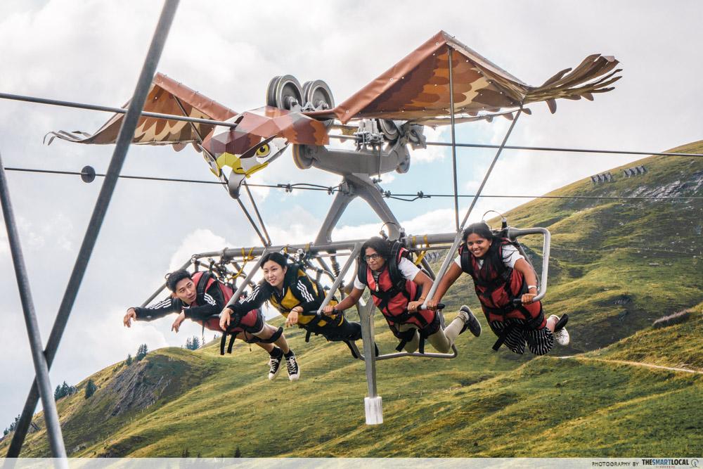 First Glider in Grindelwald First