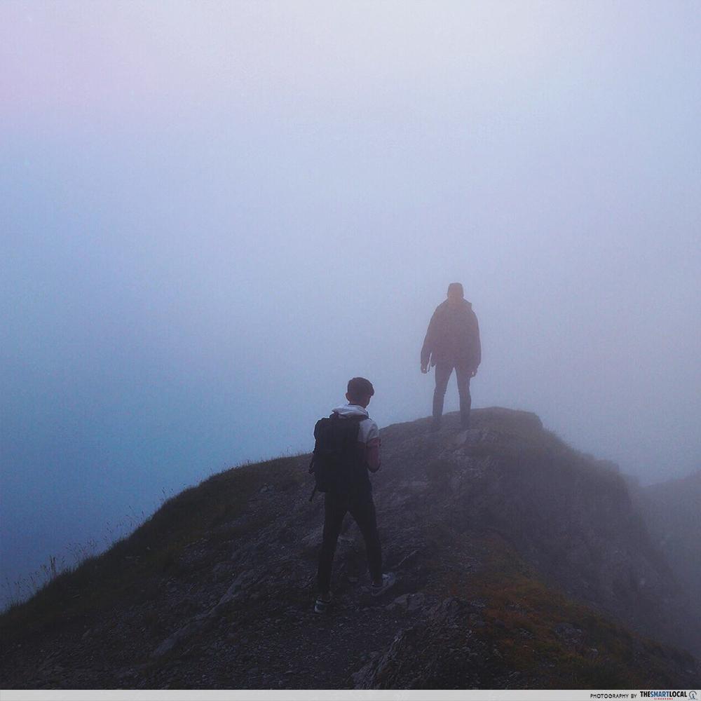 Mount Pilatus in the fog, Switzerland