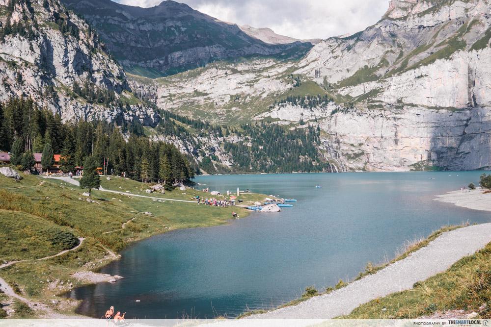 Lake Oeschinen in Switzerland