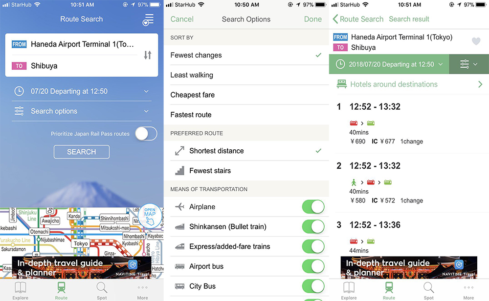 Japan Time by Navitime travel app