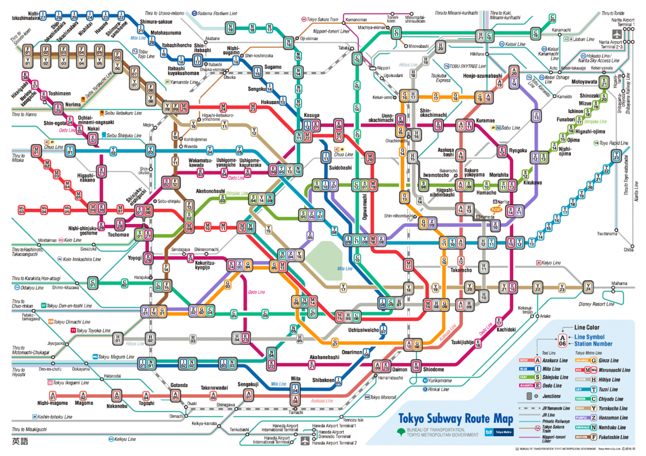 Tokyo Subway Map With Attractions.7 Free Japan Travel Apps For Blur Sotongs To Download Before A Trip