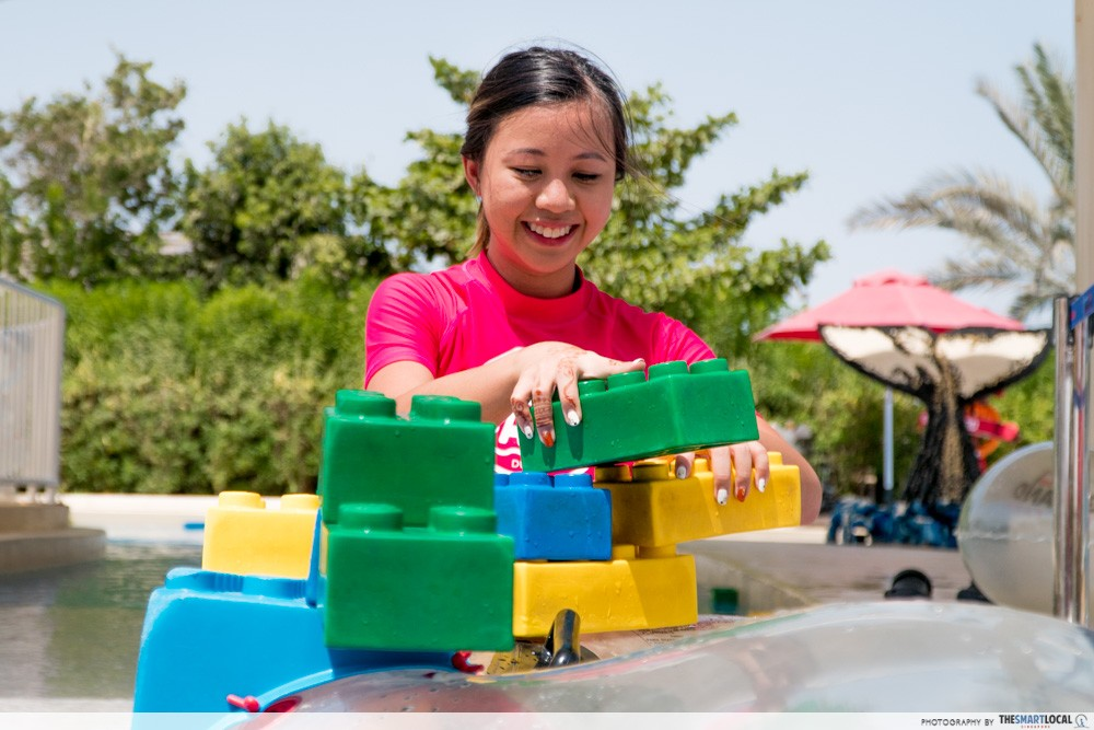 legoland water park build a raft