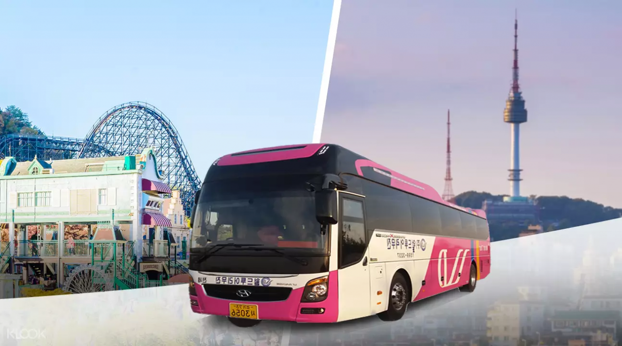 everland korea klook bus