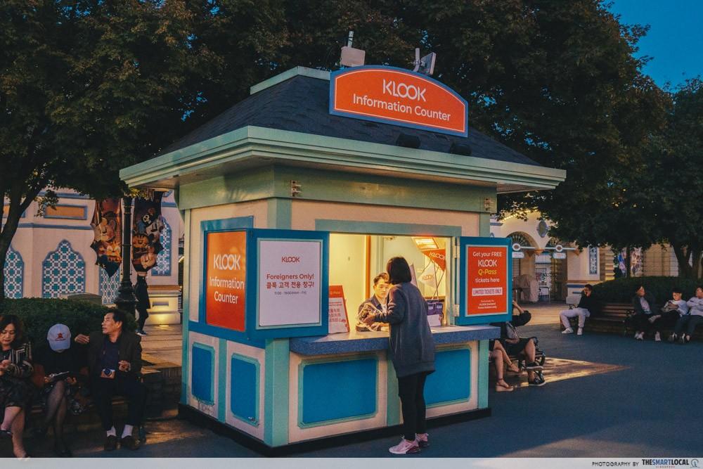 everland korea klook tickets information counter