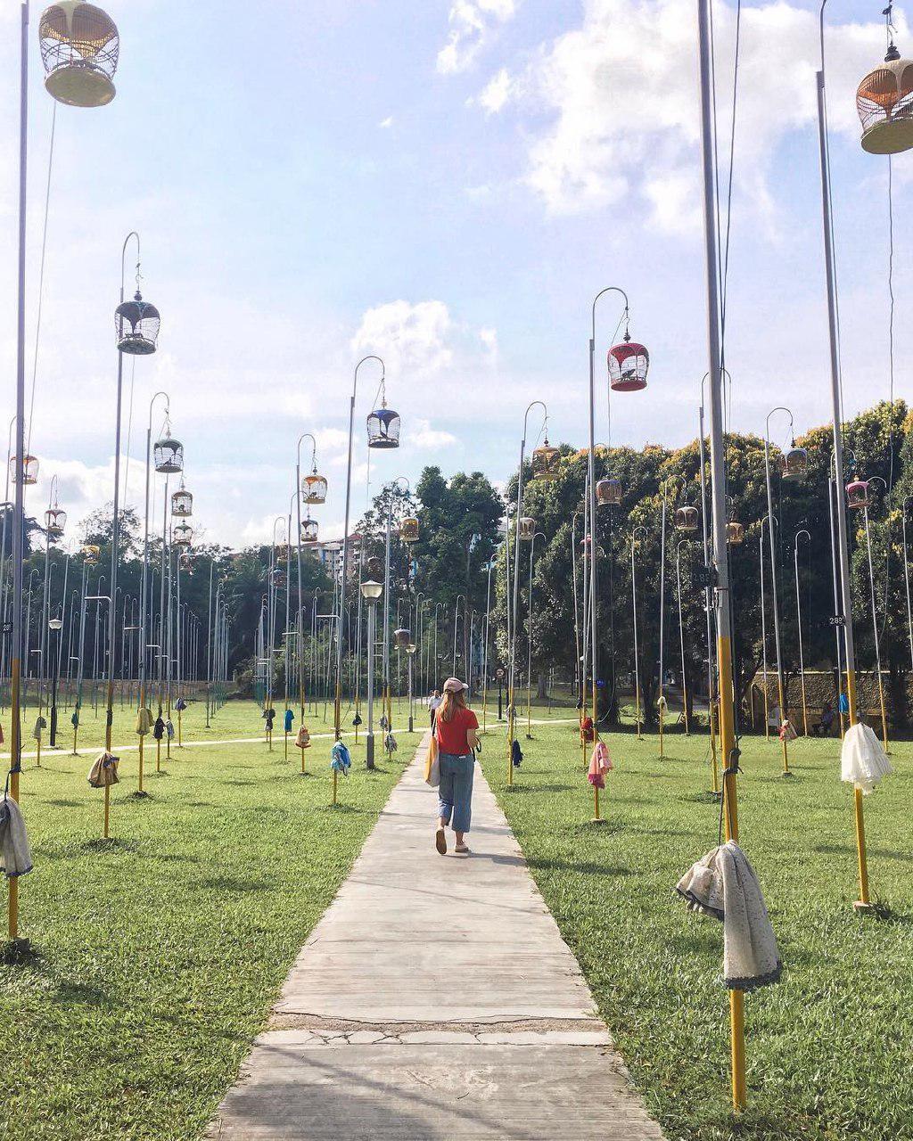 kebun baru path through cages
