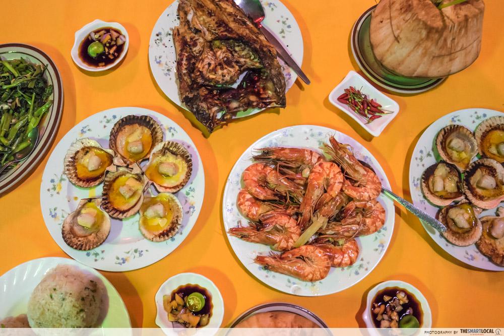salo-salo sutukil seafood spread