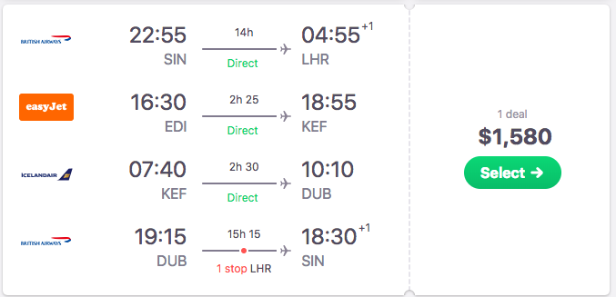 skyscanner itinerary flights