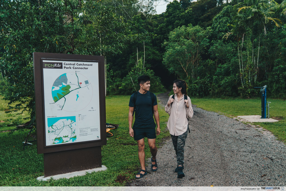 lower mandai trail entrance