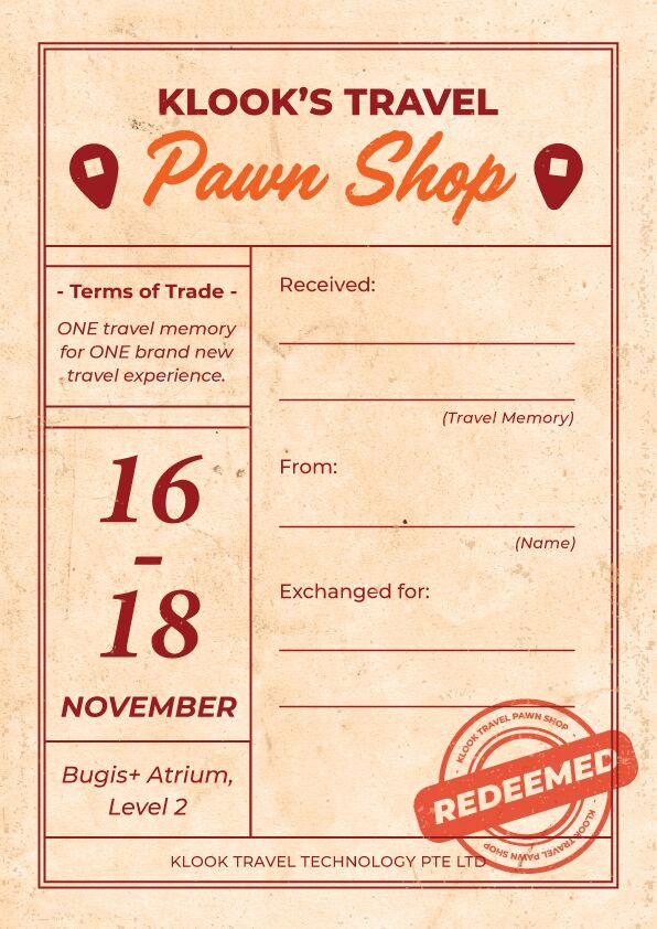 travel pawn shop ticket