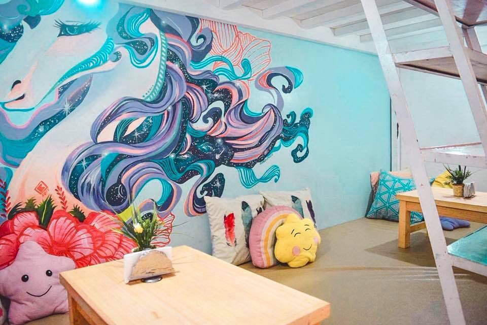 house of unicorns cafe wall murals