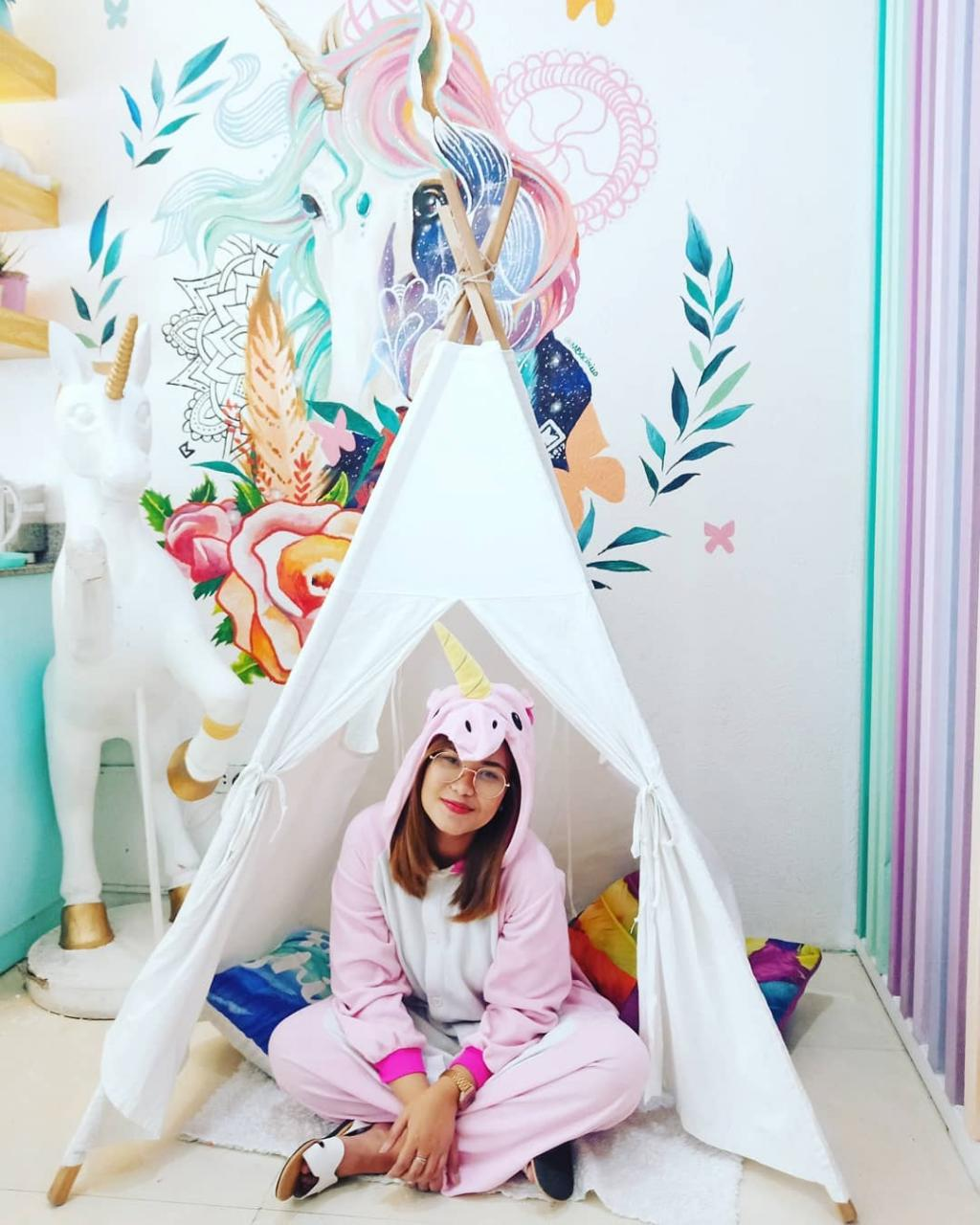 house of unicorns cafe onesie and tent