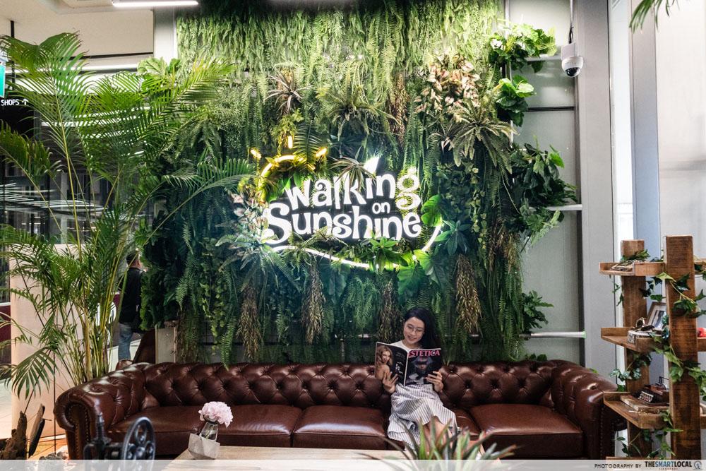 Walking On Sunshine - seating retail area