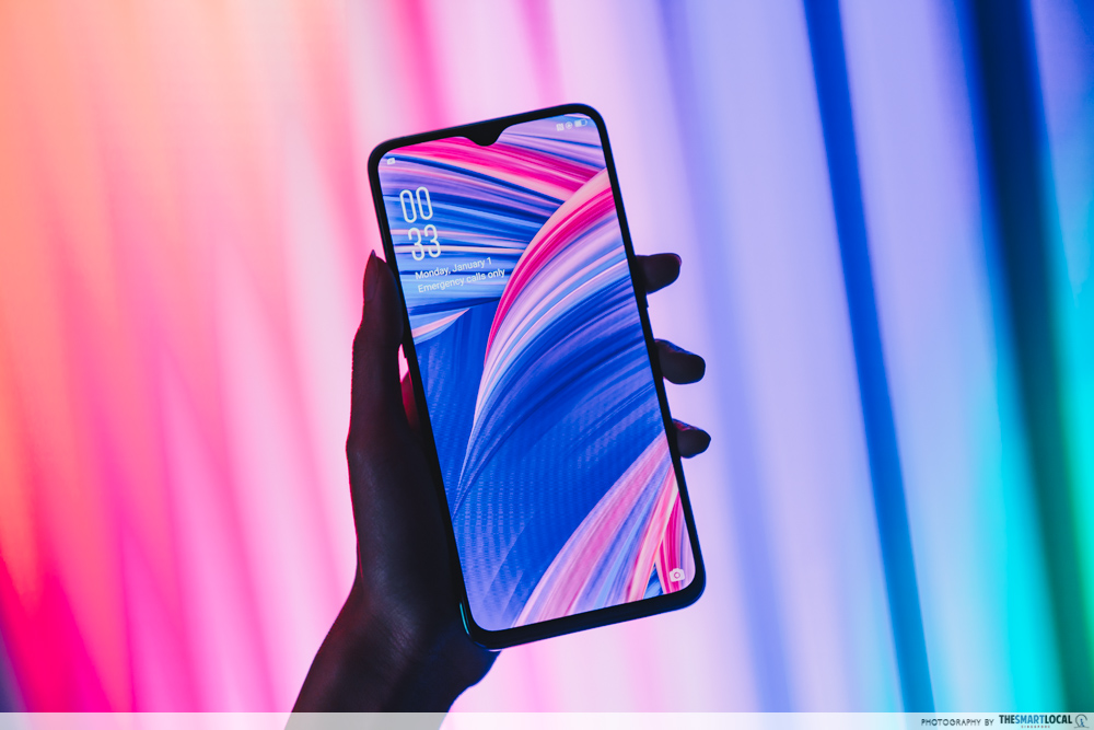 OPPO Pop up Experience - r17 pro water drop screen