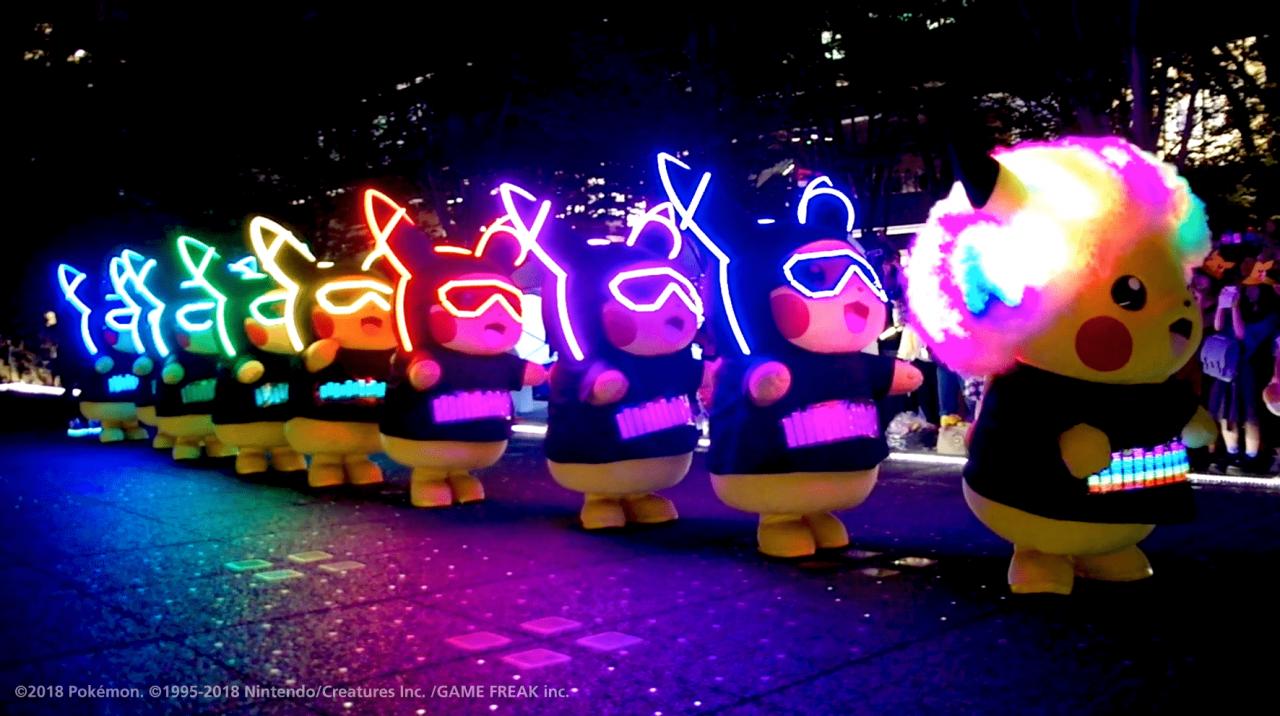 pikachu night parade