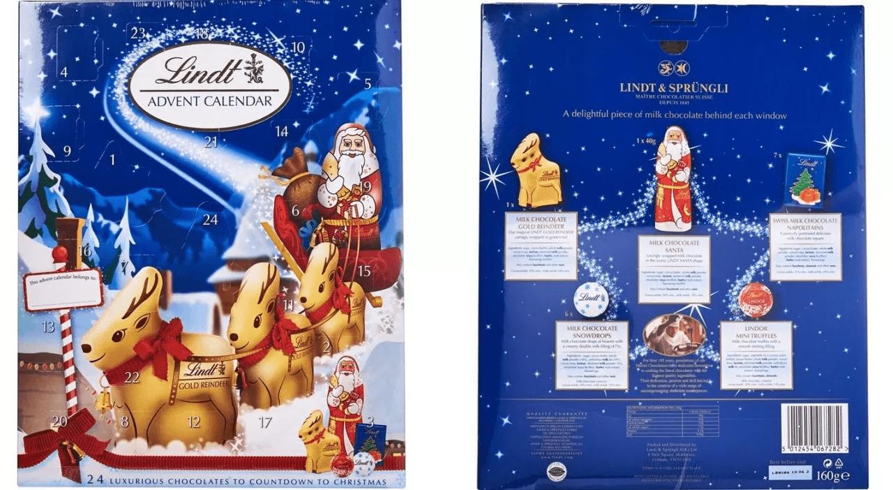 lindt's chocolate advent calendar