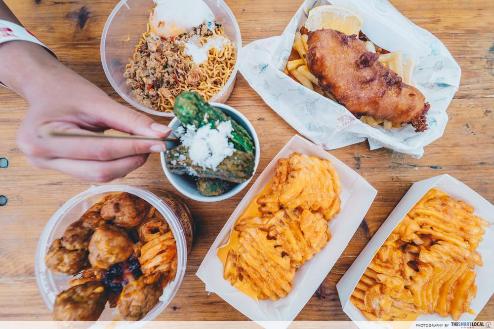 marina bay carnival food churros